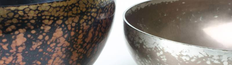 Shakudo and shibuichi bowls